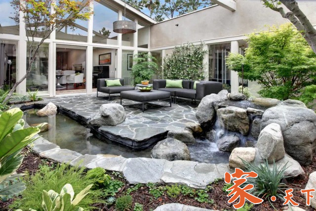 庭院设计,花园喷泉,中式庭院,中式庭院设计,假山,庭院池塘,室外装修,假山鱼池,景观规划, 小花园设计