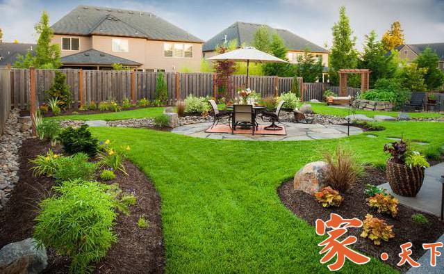 后院瀑布,园林绿化,园林设计,庭院设计
