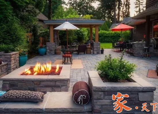 庭院设计,室外装修,庭院地砖,后院装修,后院铺砖,后院地砖,后院铺水泥,后院铺石子,装修公司, 美国庭院设计