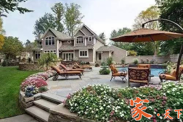 庭院设计,美式庭院,美式田园风格庭院,美式乡村风格庭院,美国花园设计,美国后院设计,美国前院设计,庭院装修,室外装修,景观花园