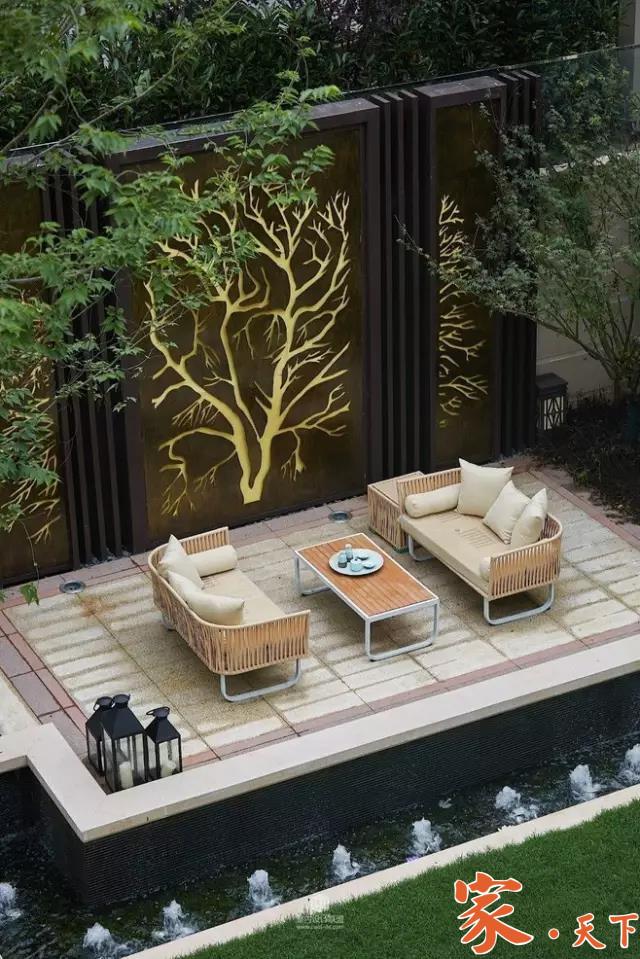 景观牆,景观墙设计,别墅花园,庭院设计,美国庭院设计,豪宅设计,庭院装修,室外装修,私家花园,豪宅装修